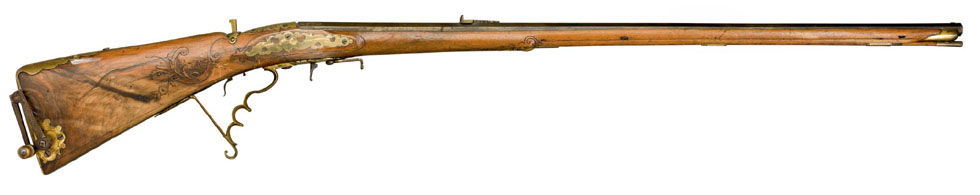 A 120 BORE SOUTH GERMAN AIR GUN OF WISTALLER IN MUNCHEN 1780