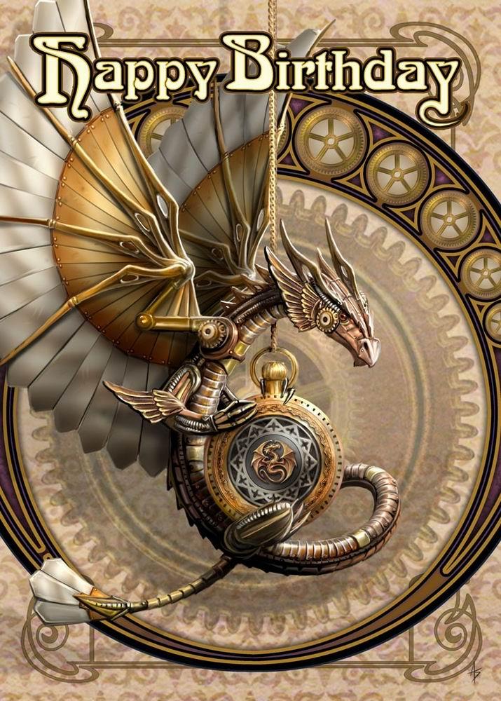 Clockwork-Dragon-Anne-Stokes-birthday-card-AN53
