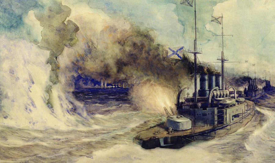the-battle-between-the-black-sea-fleet-and-the-armoured-cruiser-goeben-mikhail-mikhailovich-semyonov