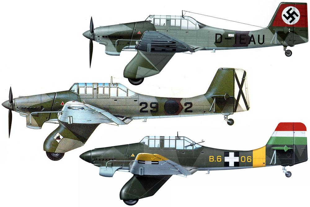 Artwork-Junkers-Ju-87A1-Stuka-HAF-(B6+06)-Hungary-1943-0A