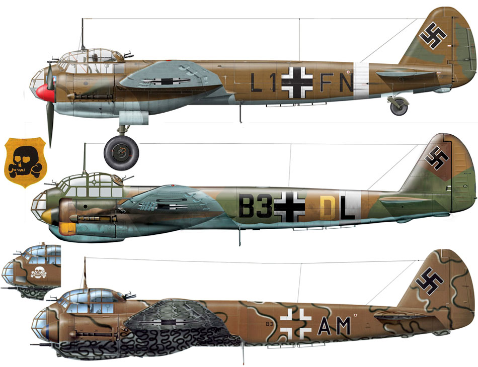 Artwork-Junkers-Ju-88A-4.KG54-(B3+AM)-Catania-Italy-1943-0A