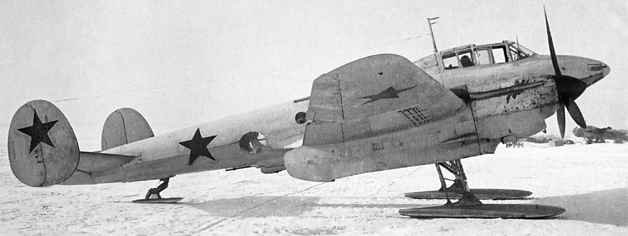 Pe-2 on ski_2