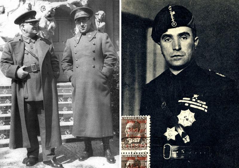 generales Jose Miaja y Vicente Rojo el mas alto