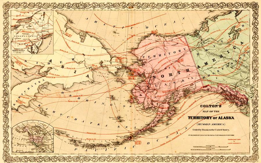 Colton's Territory of Alaska 1867