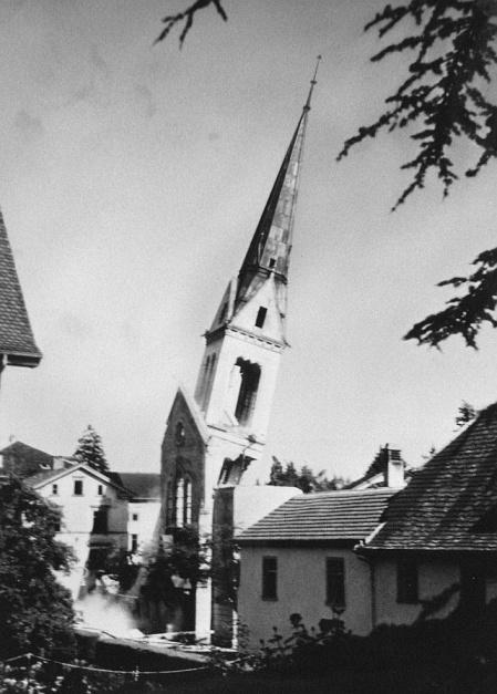 013-Schaffhausen-bombardierung-1-april-1944-sprengung-turm-steigkirche