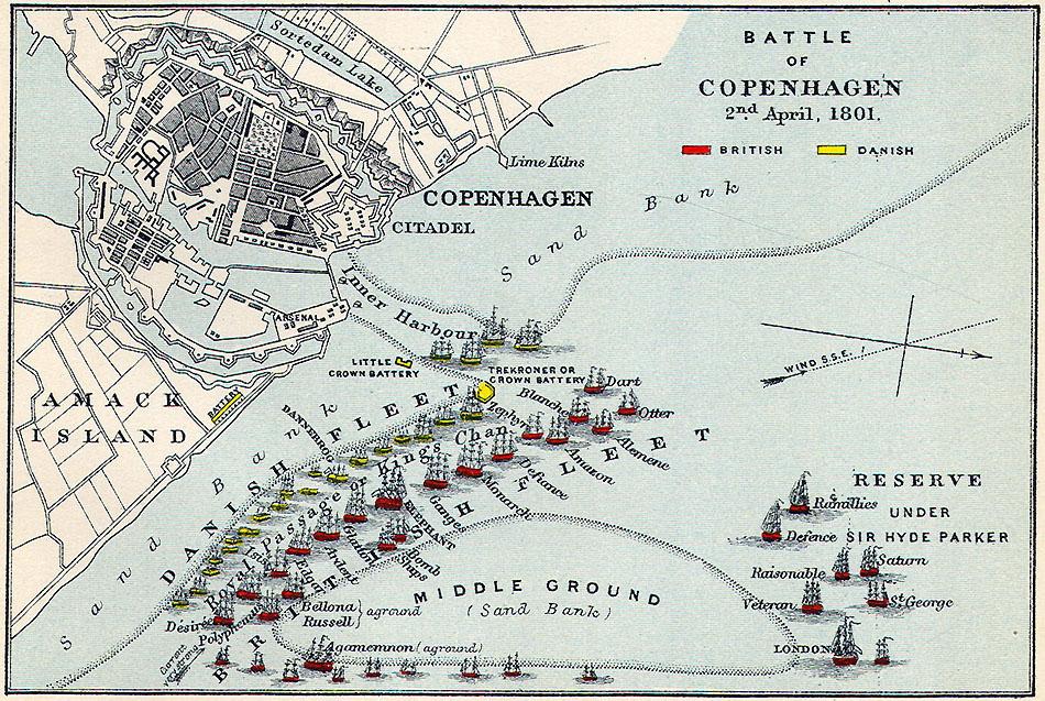 Plan - Battle of Copenhagen_ 2nd April 1801