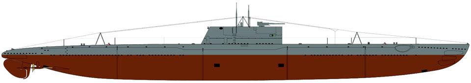 Shadowgraph_Dekabrist_class_I_series_submarine