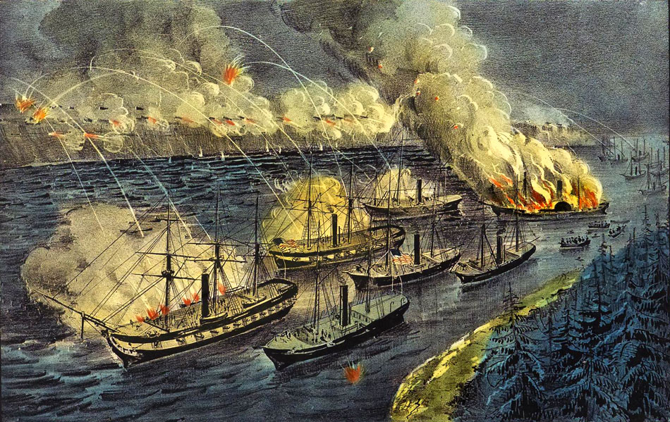 admiral-farraguts-fleet-engaging-the-rebel-batteries-at-port-hudson-march-14th-1863-by-currier-ives