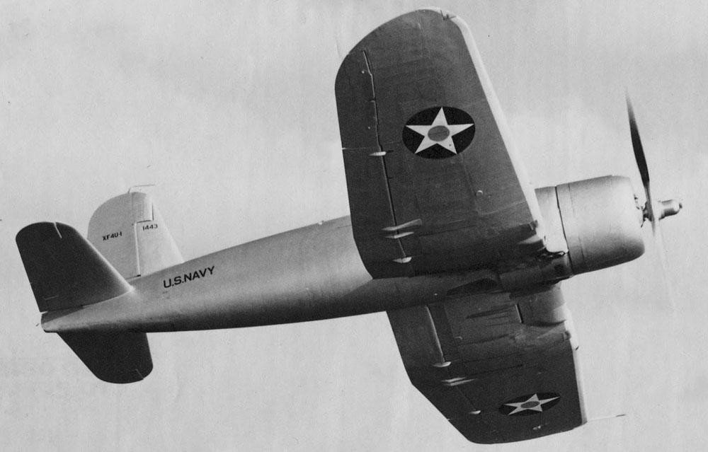 Xf4U-1 from below