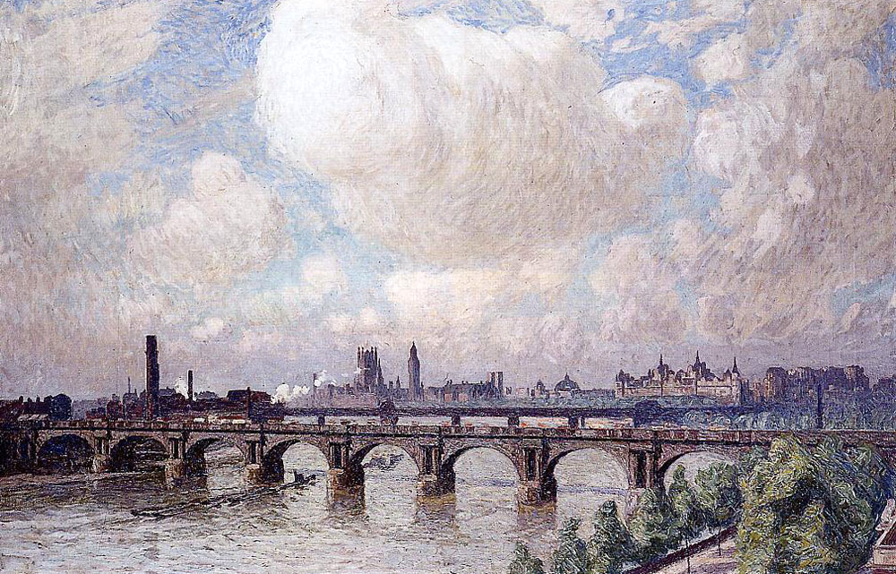 Emile Claus Waterloo Bridge in the Sun 1916