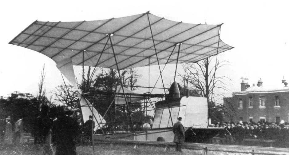 Maxim flying machine at Baldwin Park 1894