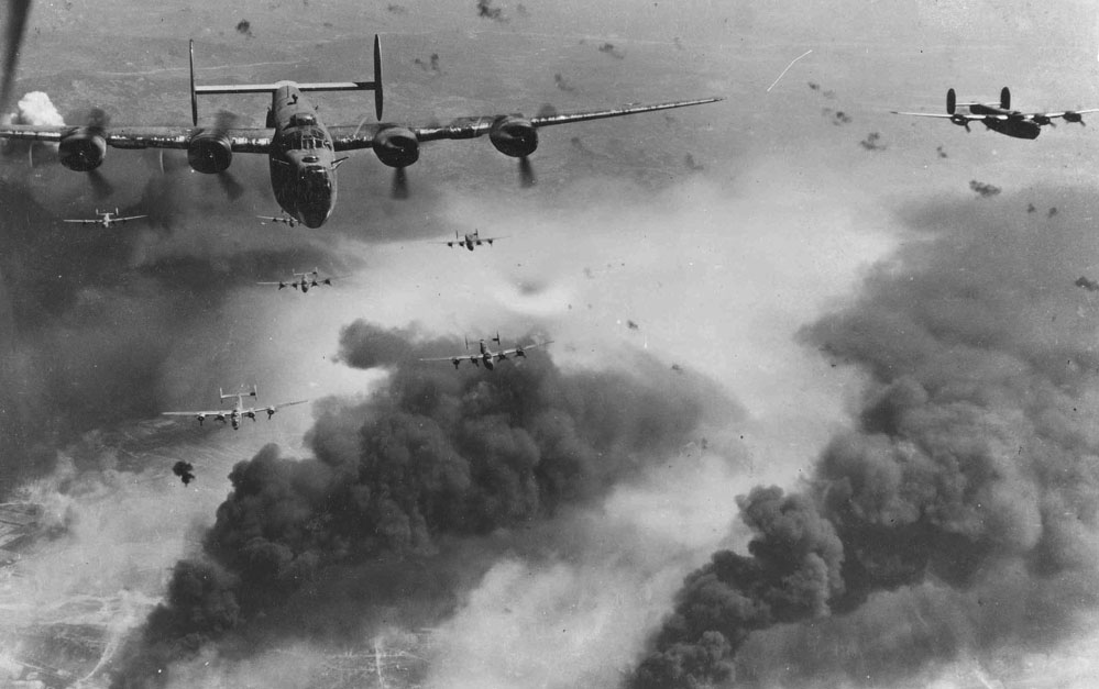 B-24D's_fly_over_Polesti_during_World_War_II