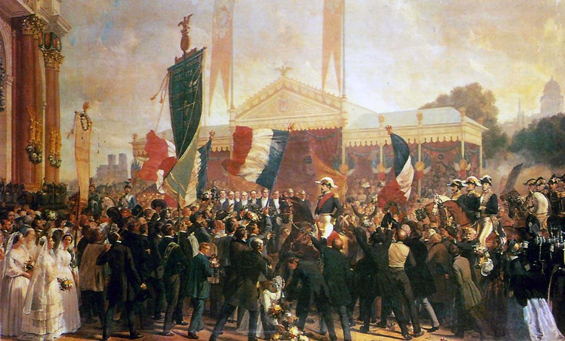 031[amolenuvolette.it]1852 10 16 octobre rentrée de louis napoléon à paris, peinture de philippe larivière.jpg