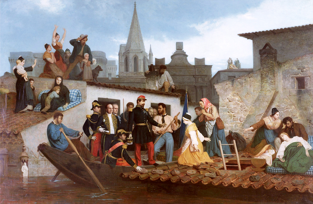 Наполеон-фарс Bouguereau_-Napoleon_III_Visiting_Flood_Victims_of_Tarascon_in_June_1856.jpg