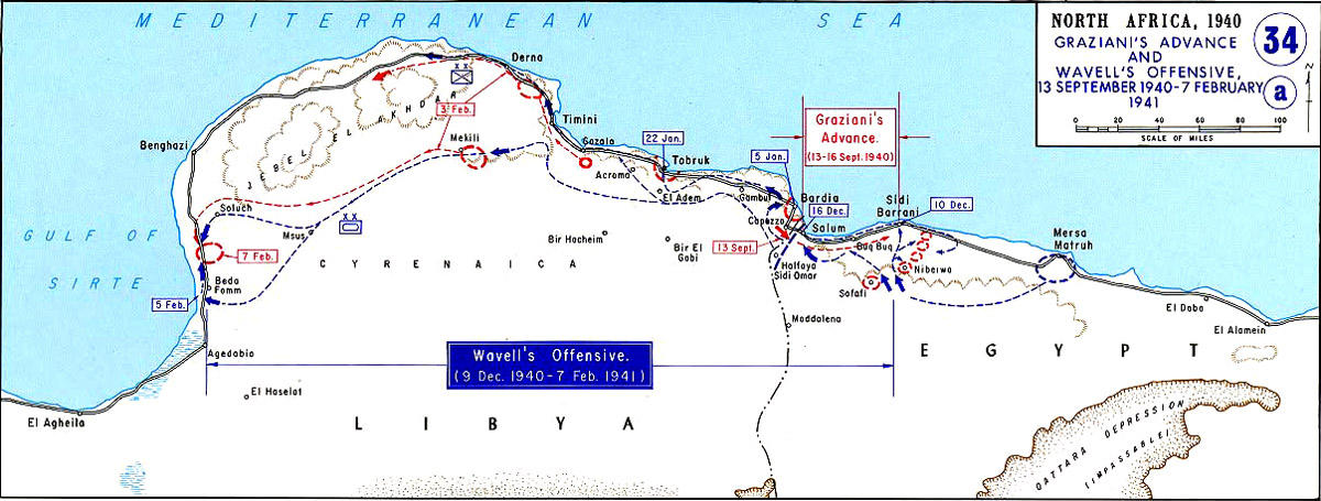 North Africa, Graziani's Advance And Wavell's Offensive,13 September 1940 -7 February 1941.jpg