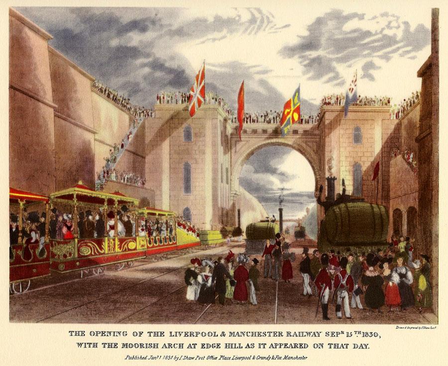 Первая в мире железная дорога. 1830