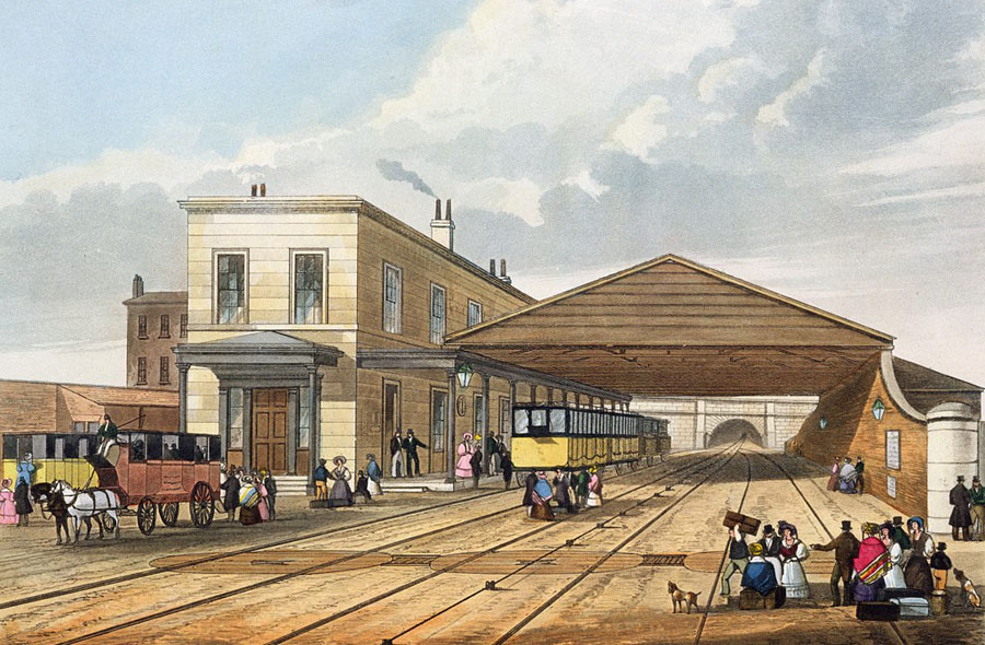 Railway_Office,_Liverpool,_from_Bury's_Liverpool_and_Manchester_Railway,_1831_-_artfinder_267569