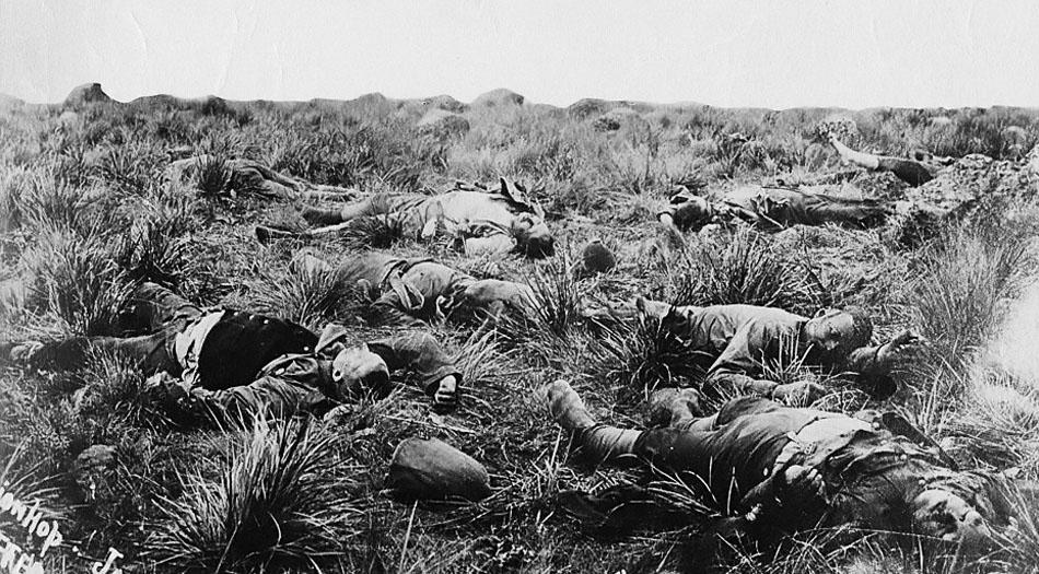 British_casualties,_Spionkop,_1900