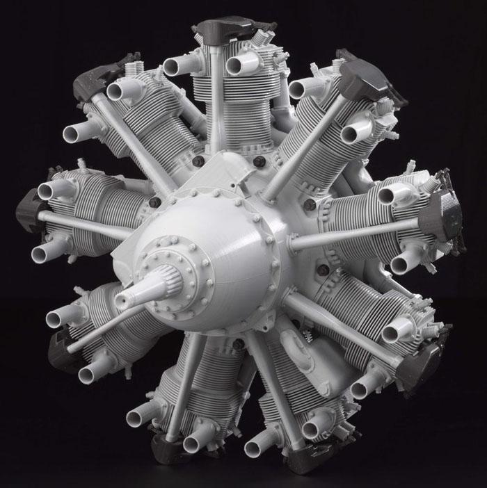 3D-printed-model-of-1938-Bristol-Mercury-engine