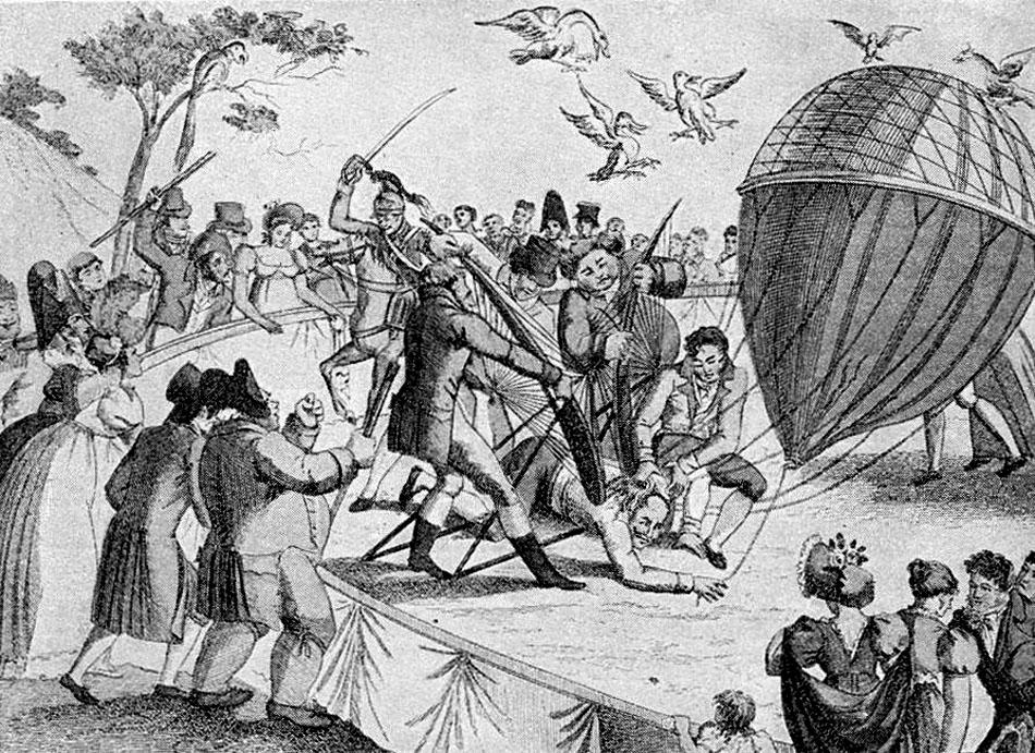 luftfahrt-geschichte-204-jakob-degen-1812-aufstiegsversuch-einer-ballonflugmaschine-ballon-und-fleigertragflaechen