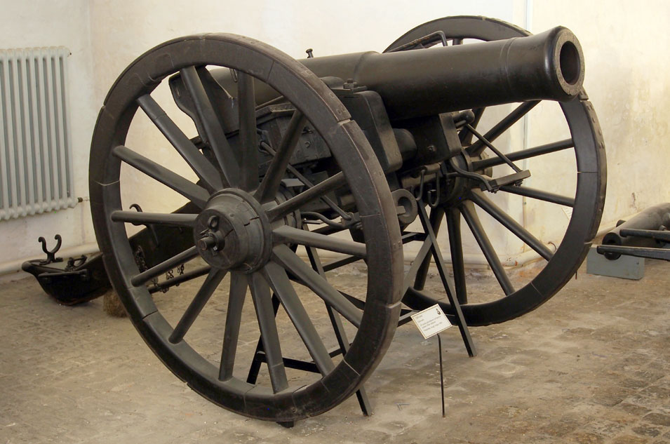 Field_Artillery,_used_in_the_War_of_1864,_24_pounder_shell_gun_of_army_1834,_