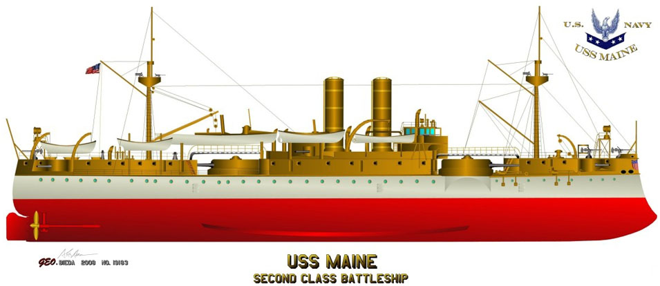 USS MAINE-MINI