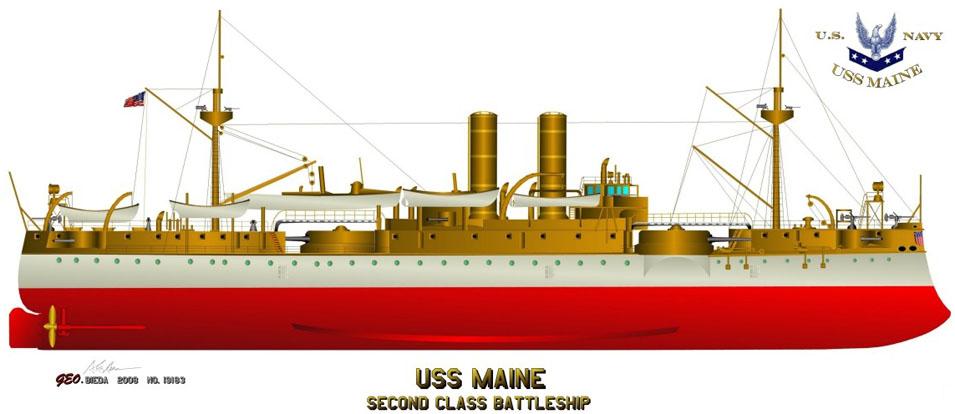 USS MAINE-MINI