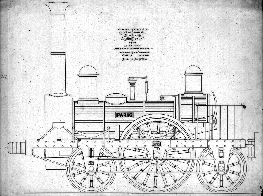 no 23 'Paris' paris & st germain railway 1835
