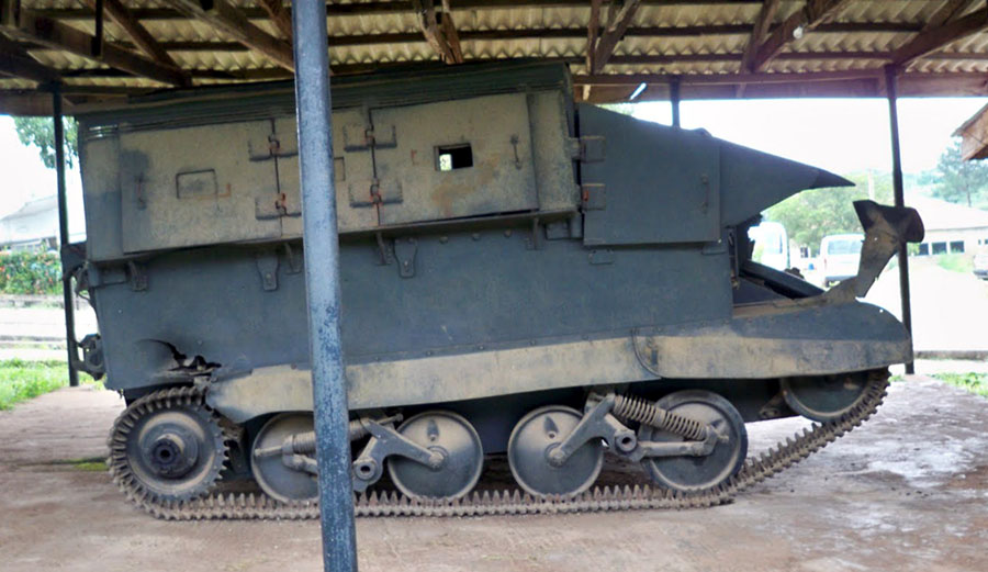 Biafran made tank