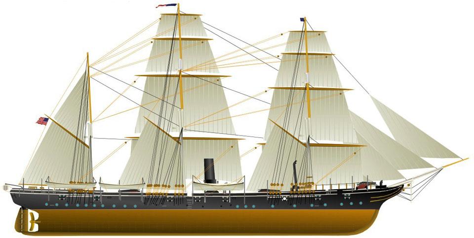 USS Kearsarge Civil War-1894m