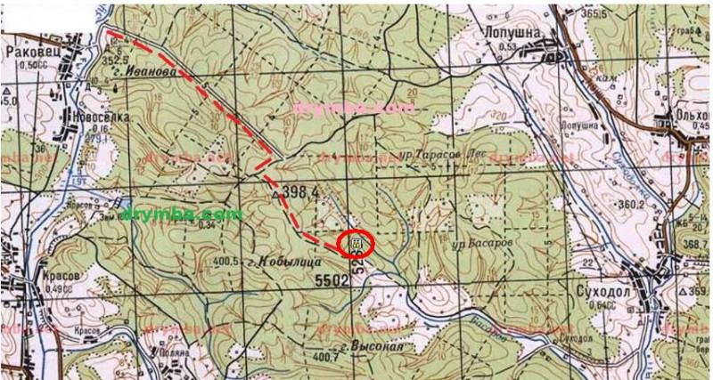 Місце розташування с. Гутисько