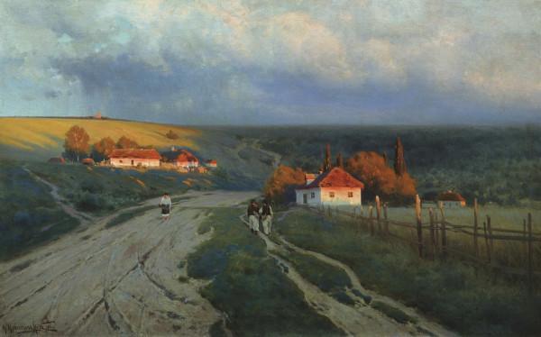 КРЫЖИЦКИЙ (1858-1911). Вечер на Украине.
