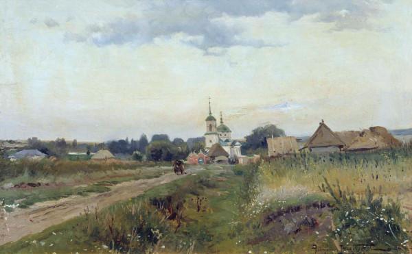 МАКОВСКИЙ (1869-1924). Пейзаж с церковью.