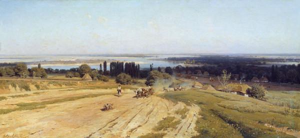 ОРЛОВСКИЙ (1842-1914). Вид на Украине.