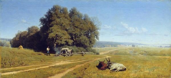ОРЛОВСКИЙ (1842-1914). Пейзаж.