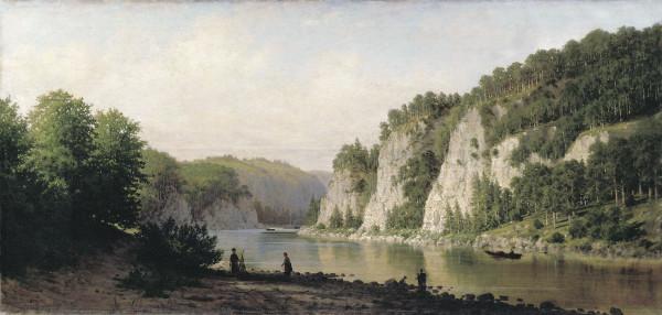 ВЕРЕЩАГИН (1836-1886). Камень «Писанный» на реке Чусовой.