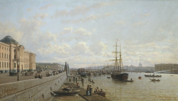 ВЕРЕЩАГИН (1836-1886). Набережная Невы.