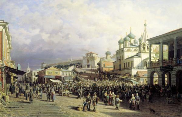 ВЕРЕЩАГИН (1836-1986). Рынок в Нижнем Новгороде.
