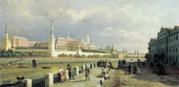 ВЕРЕЩАГИН (1836-1886). Вид Московского кремля.