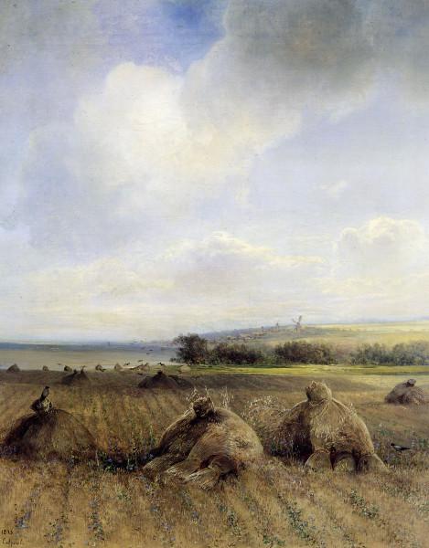 САВРАСОВ (1830-1897). К концу лета на Волге.
