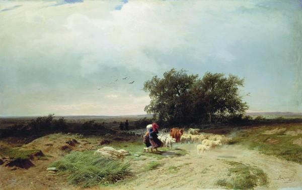 ВАСИЛЬЕВ (1850-1873). Возвращение стада.