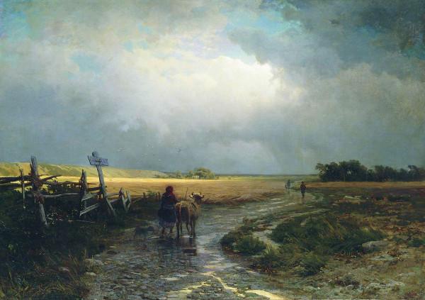 ВАСИЛЬЕВ (1850-1873). После дождя. Просёлок