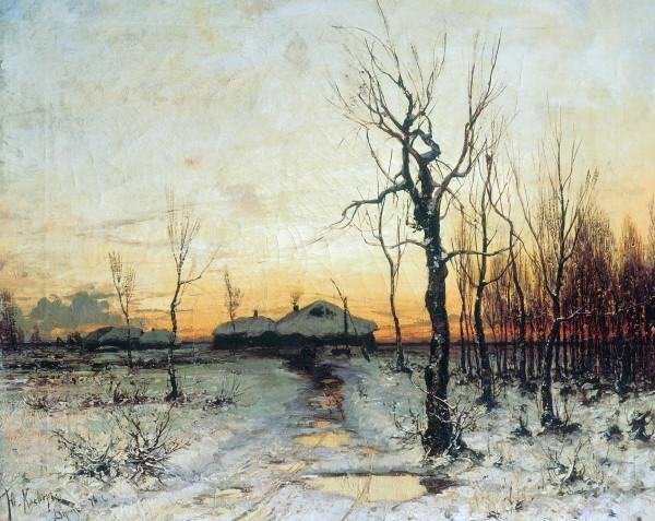 КЛЕВЕР (1850-1924). Зима.