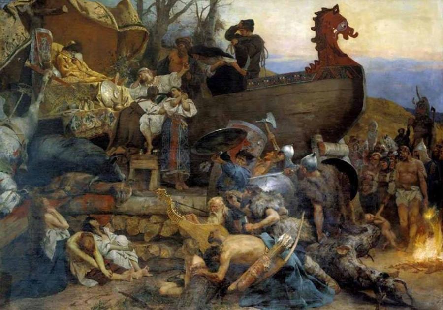 Картинки по запросу семирадский похороны знатного руса