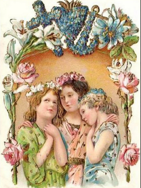 Как сделать, вера надежда любовь старинные открытки