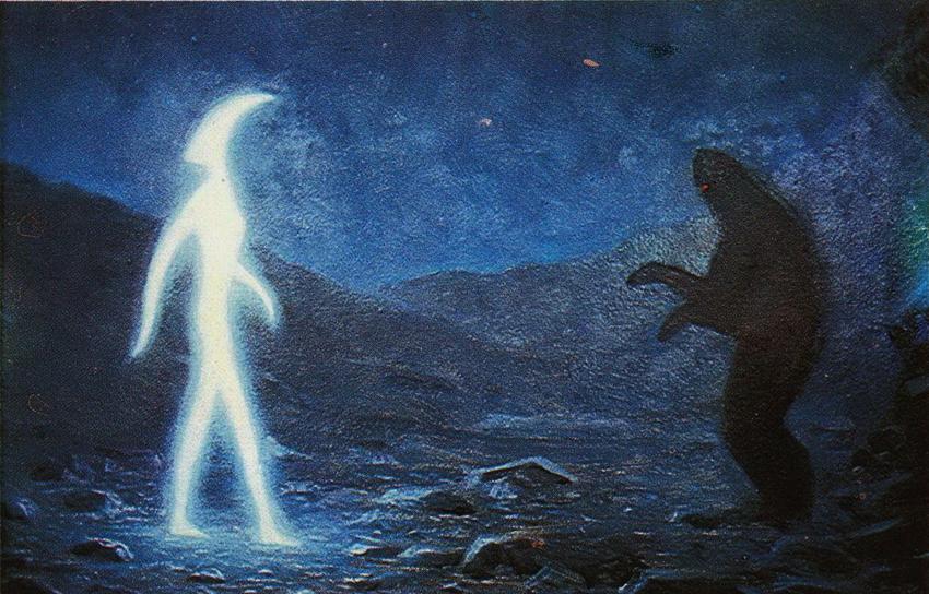 Эти две фигуры были участницами сцены борьбы добра и зла, которую показали В. П. Кострыкину хозяева