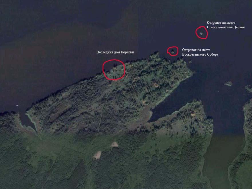 спутниковое фото Корчевы