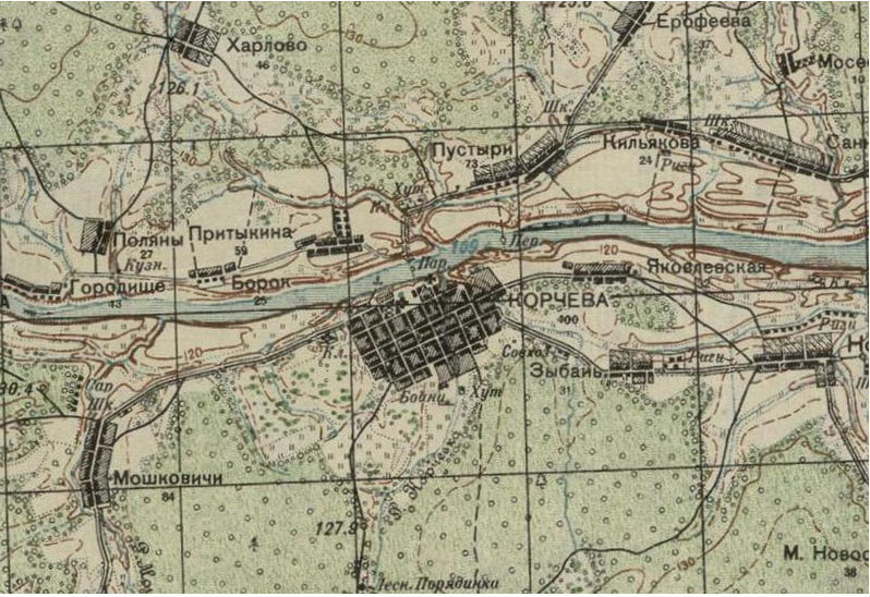 фрагмент карты старой Корчевы