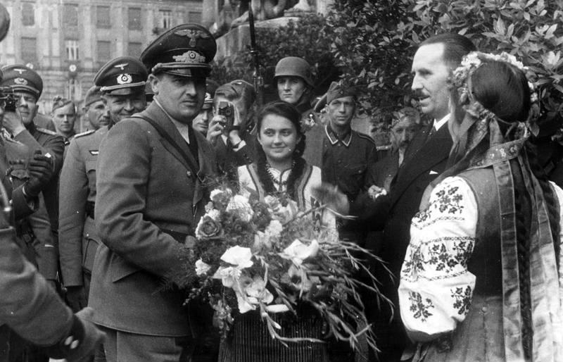 Візит губернатора Ганса Франка. Львів 1941р.