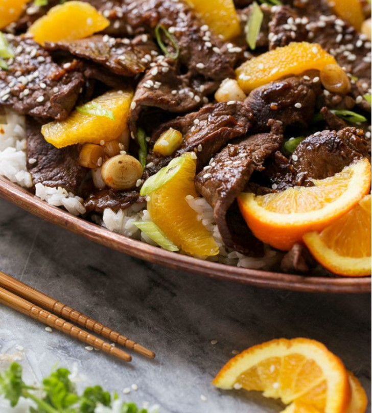 вкусная говядина с апельсинами рецепт